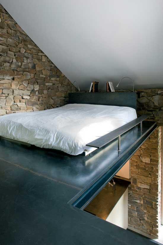 interior design bed on gallery