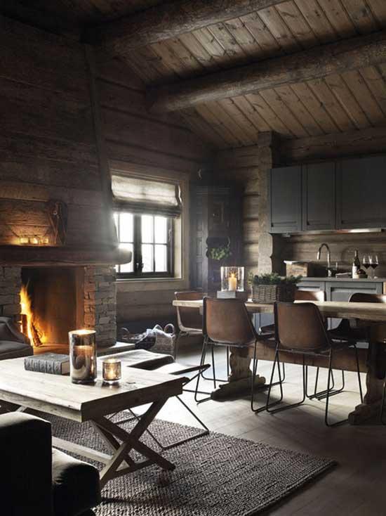 living room rustic interior design