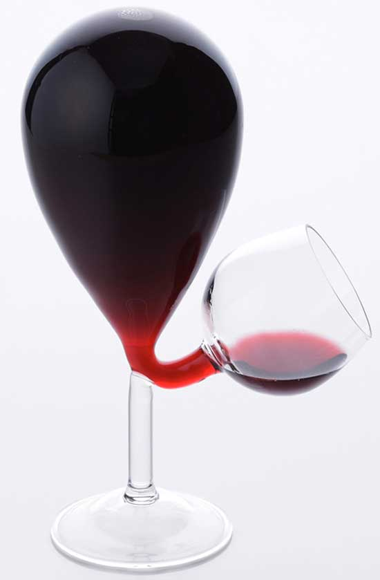 never ending wine glass
