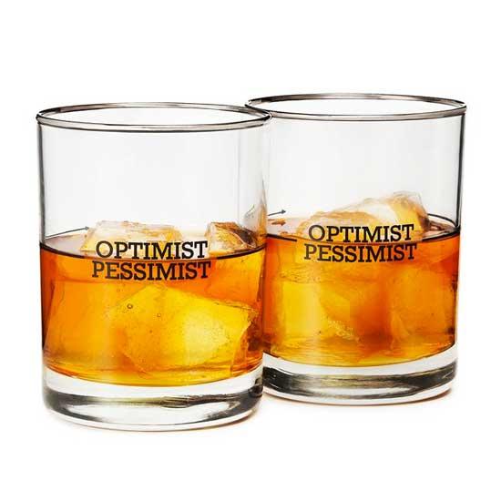 optimist pessimist whiskey glass