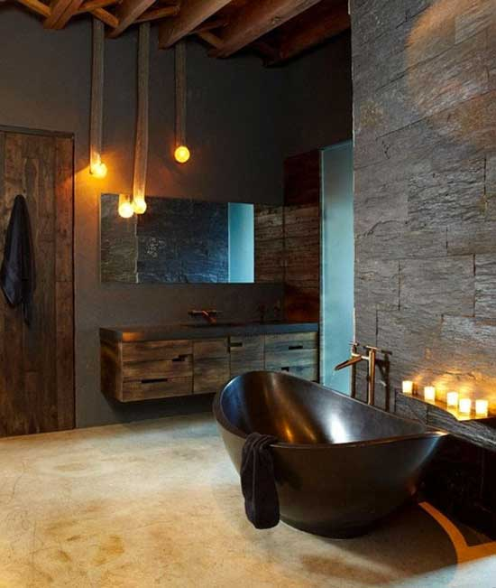 Dark Wood Tile Bathroom: 28 MINIMALIST BATHROOM DESIGNS TO DREAM ABOUT
