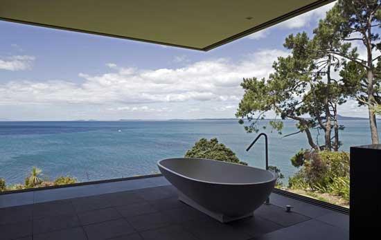 white gray tub scenery
