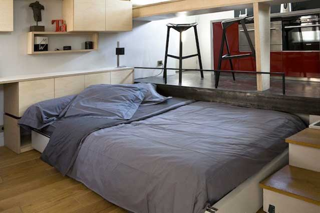 Micro Apartment in Paris Pullout Bed