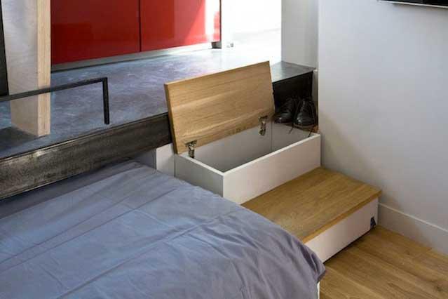 Micro Apartment in Paris Storage Space