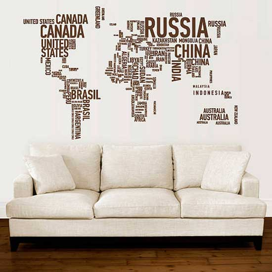 A different world wall stickers - Maison du monde stickers ...
