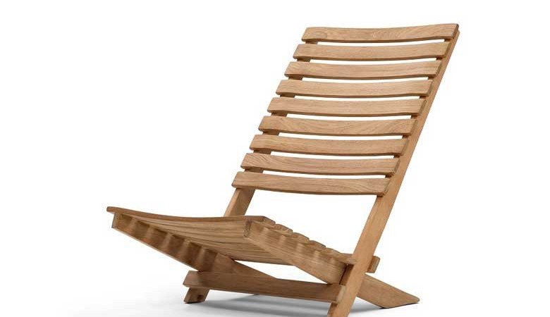 Dania Teak Beach Chair by Skagerak