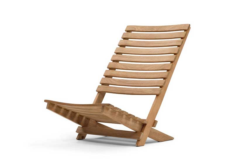Dania folding teak beach chair by skagerak - Chaises de plage ...