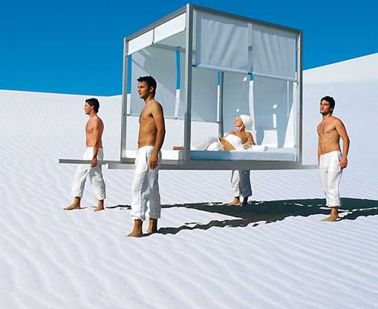 Day Bed by Jose Gandia Blasco in the desert