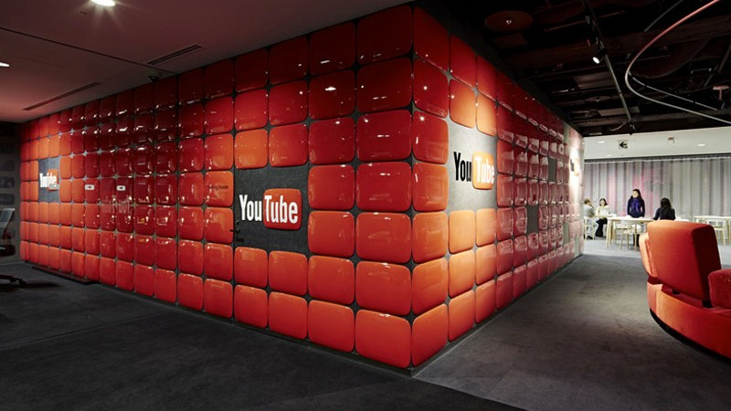 Reception area at the YouTube Space Tokyo Klein Dytham Architecture