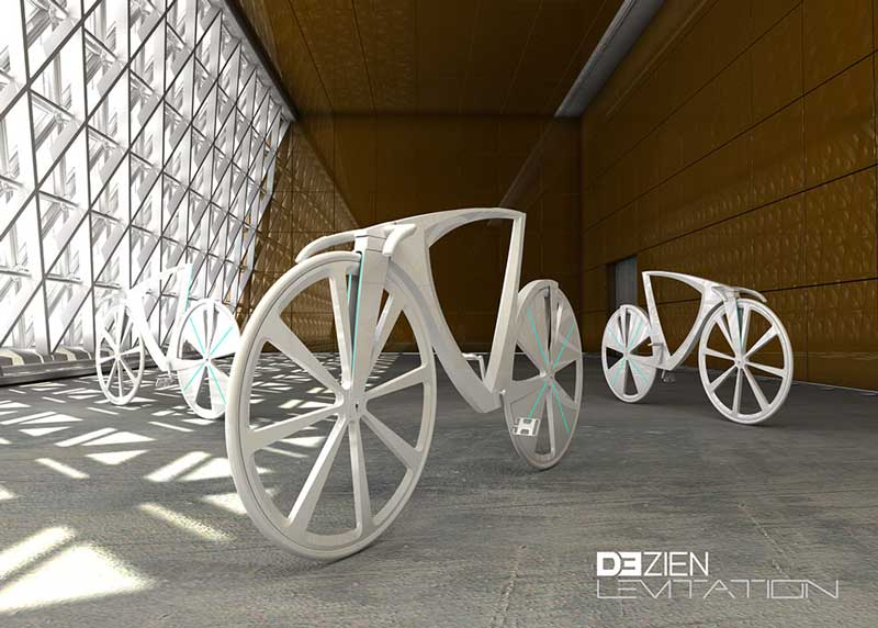 White Levitation concept bikes on display