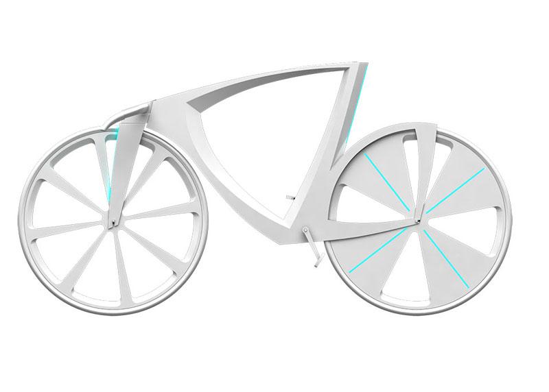 White Levitation concept bike side view
