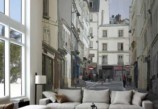 Montmartre Wall Mural Isabel Da Silva Azevedo
