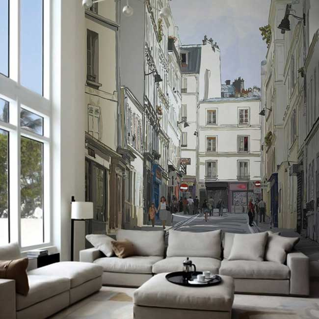Lovely Montmartre Wall Mural Isabel Da Silva Azevedo Pictures Gallery