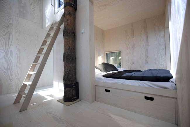 Treehotel Sweden Mirrorcube Interior