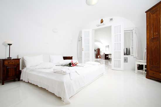 White House Villa Santorini bedroom
