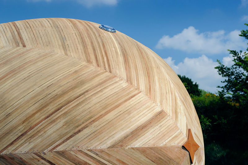 closeup view of the front of the Exburry Egg