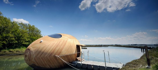 Exbury Egg – Self-Sustaining, Energy Efficient Floating Office (VIDEO)