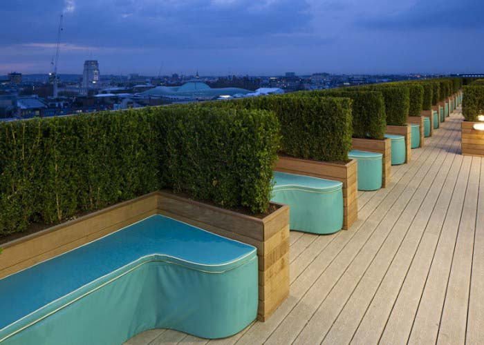 rooftop terrace Google's London Offices