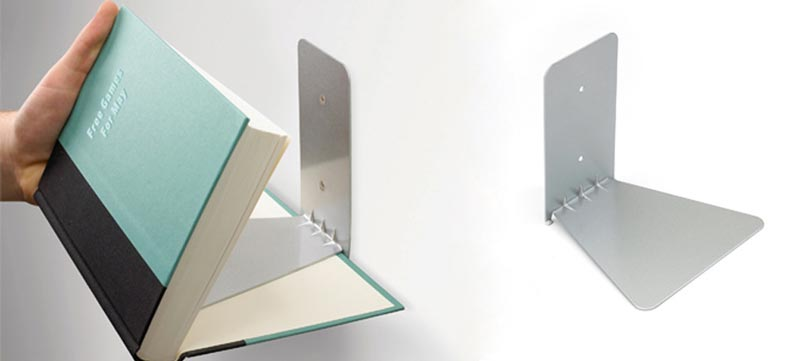 Conceal floating Bookshelf installation
