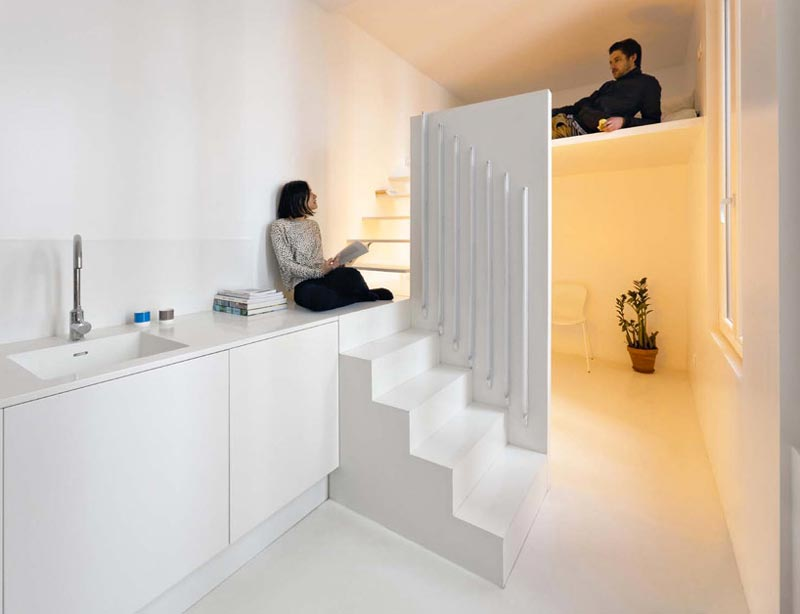 Studio Apartment Meaning micro parisian studio apartment uses artificial lighting to it's