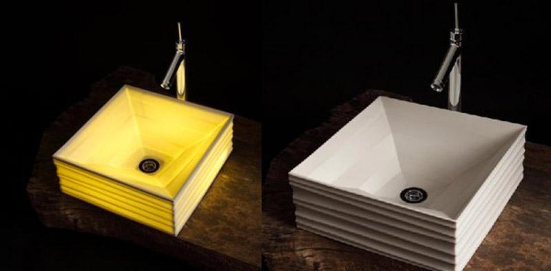 illuminated and non illuminated ceramic washbasins