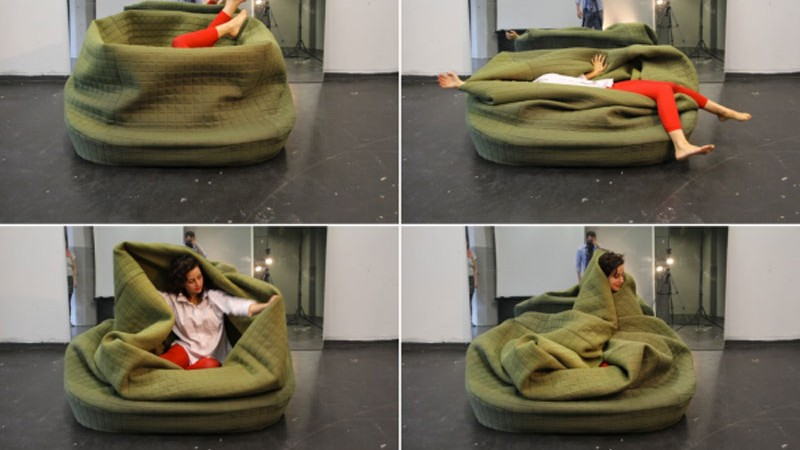 4 images of a woman in the Moody Nest by Hanna Ernsting