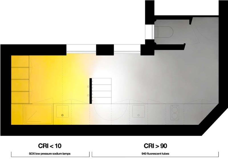 floor plans of a micro studio apartment in Paris