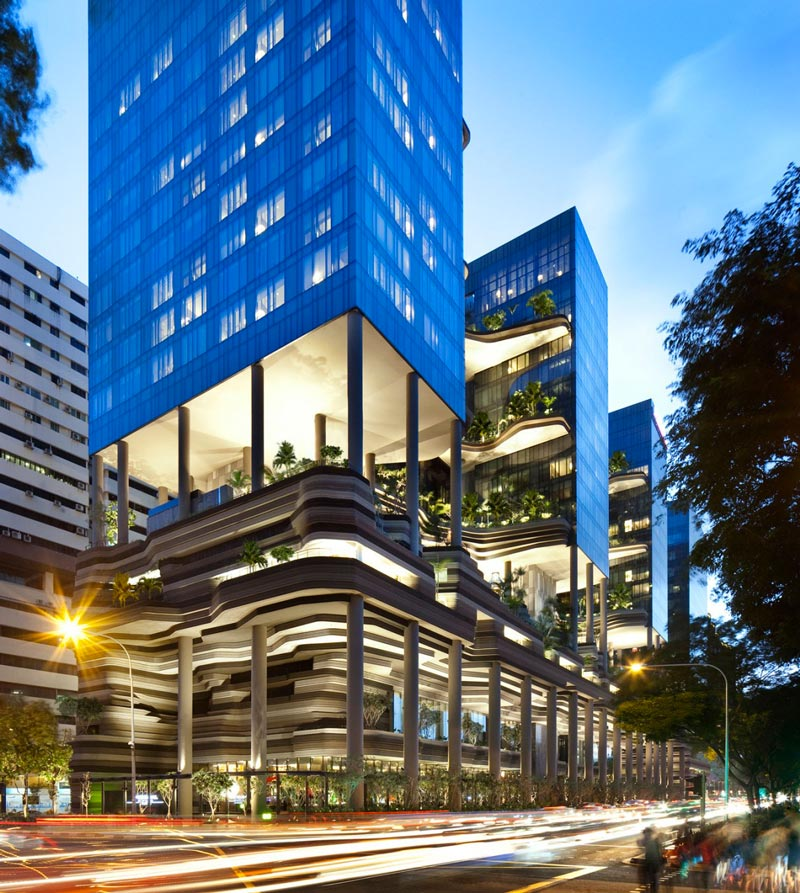 exterior street view of the Parkroyal Singapore