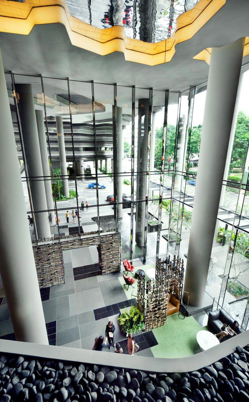 atrium at the Parkroyal Singapore