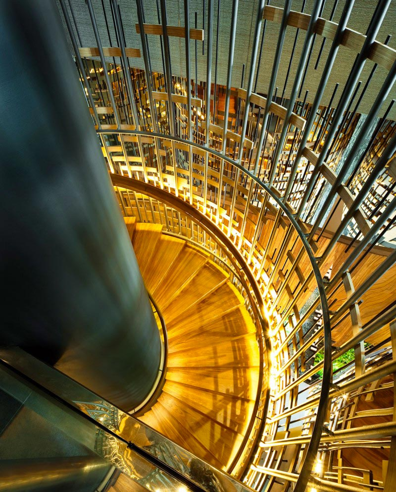 Staircase at the Parkroyal Singapore