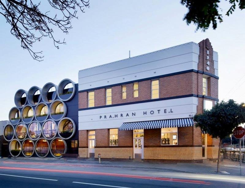 Exterior view of Prahran Hotel in Victoria