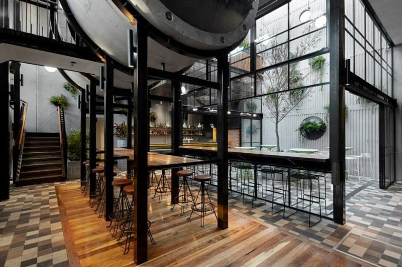 seating area on the first floor at the Prahran hotel in Victoria