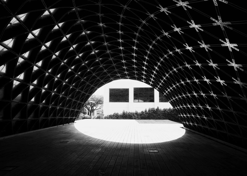 Interior of the SUTD Library Pavilion designed by City Form Lab