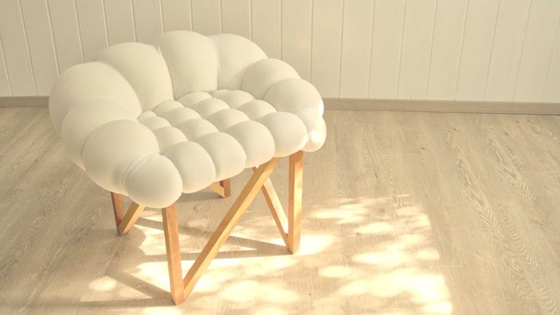 white Snobar chair in the middle of a bright room
