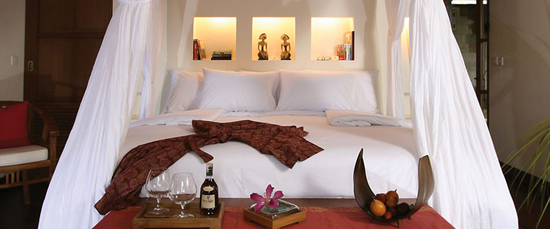 bed in bedroom at the Ubud Hanging Gardens