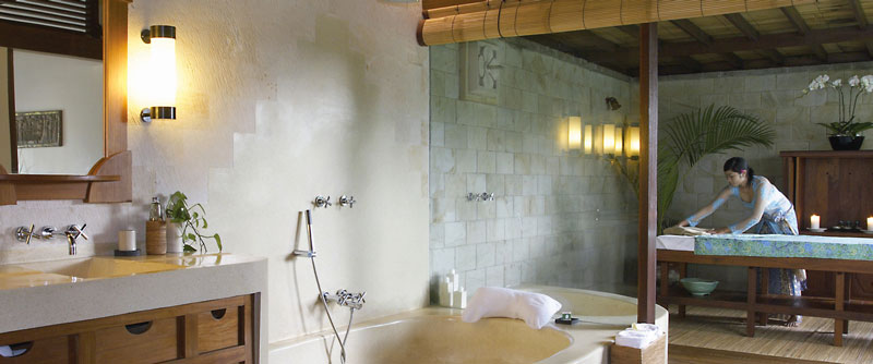 bathroom at the Ubud Hanging Gardens