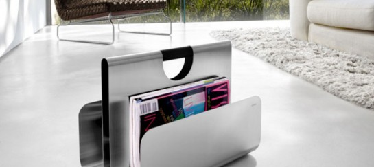 WACTOR STAINLESS STEEL MAGAZINE RACK | BY BLOMUS