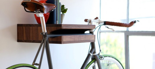 WOODEN BICYCLE AND BOOK SHELF | BY KNIFE & SAW