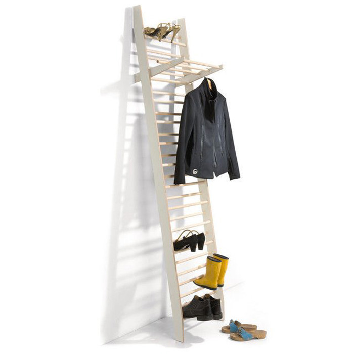 zeugwart shoe and coat rack efficient use of storage space