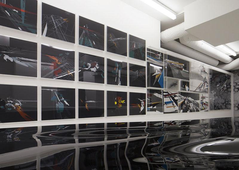 paintings in Zaha Hadid Design Gallery