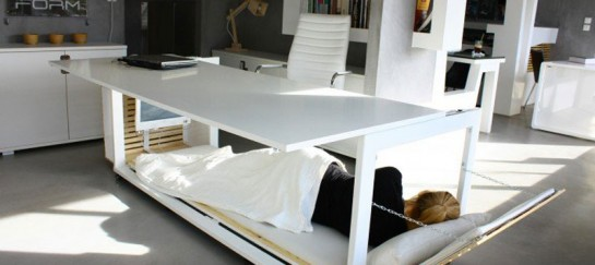 Work Desk Bed by Studio NL: Design Allowing Sleep at the Workplace