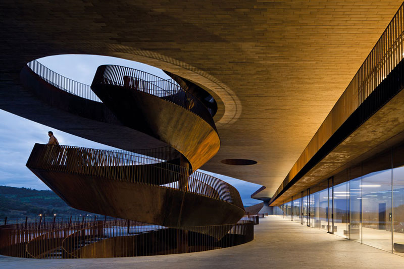 Spiral staircase at the Antinori Winery by Archea Associati