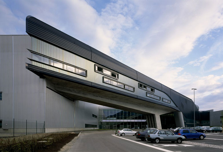 Architecture of the BMW Central Building in Leipzig by Zaha Hadid Architects