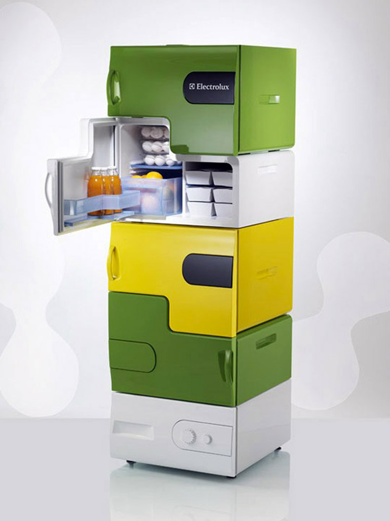 electrolux design lab 39 s flatshare fridge by stefan buchberger. Black Bedroom Furniture Sets. Home Design Ideas