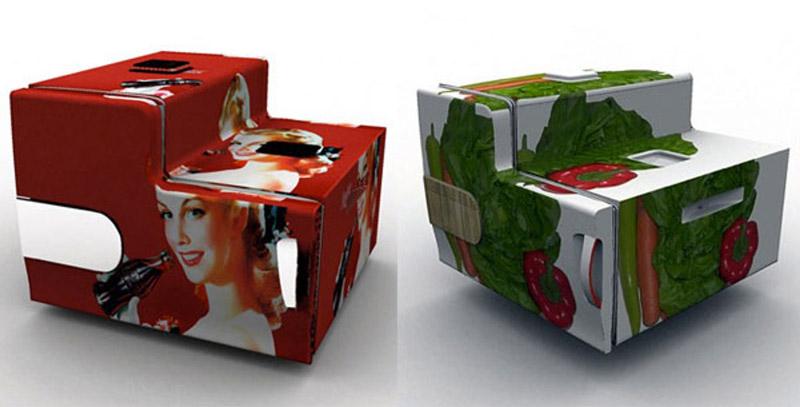 Additional storage units of Electrolux Design Lab's Flatshare Fridge