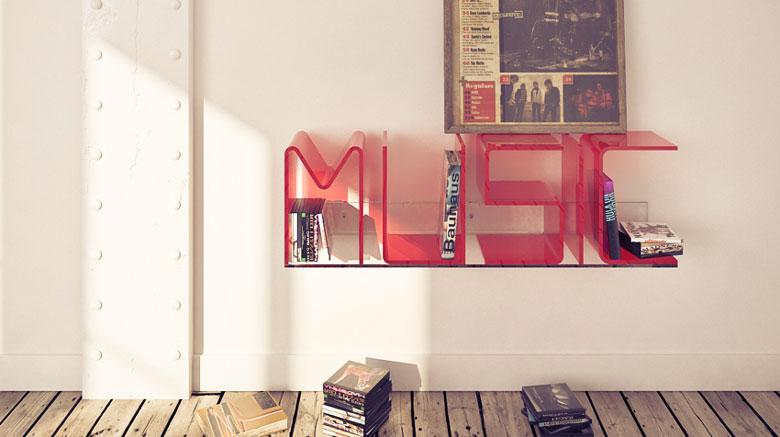 Jebiga ANITA Letter Shelves by Quattria