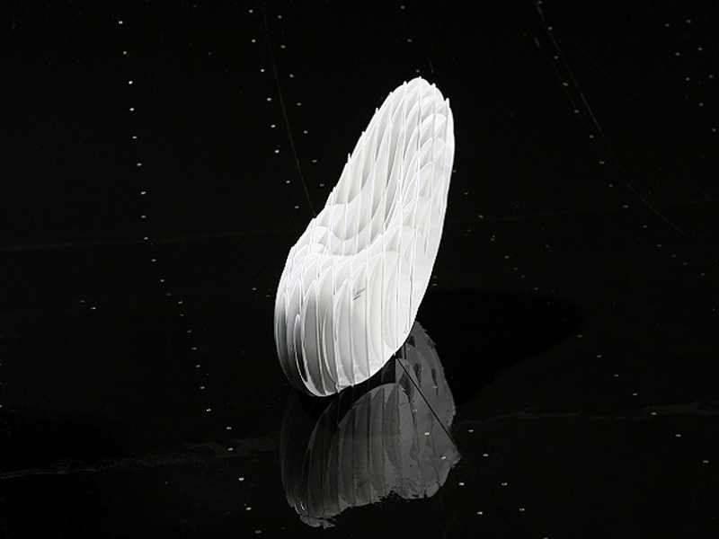 Folded view of the KARSA Chair by Marko Runjic