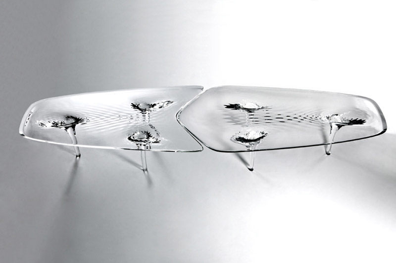 View from the top of the Liquid Glacial Table designed by Zaha Hadid