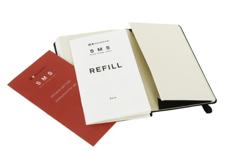 Refill messages for the Moleskine Shooting Message System SMS Notebook