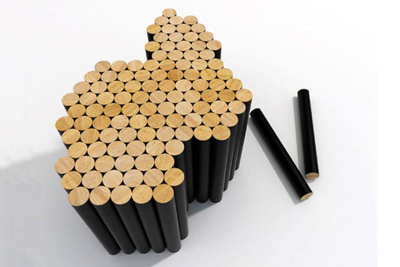 Random shaped Multiple magnetic coffee table by Raphael Charles